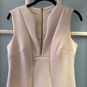 Blush Pink Calvin Klein Scuba Sheath Dress Sz 6.